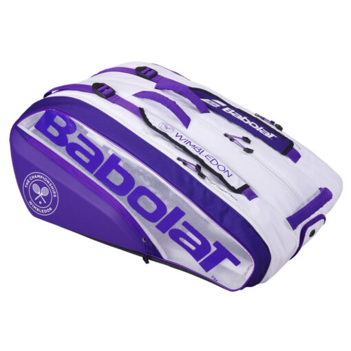 Túi Tennis BABOLAT Racket Holder X12 Pure Wimbledon White / Purple